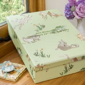 Keepsake Box - Menagerie Green