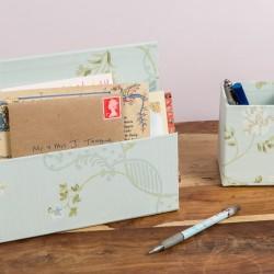 Letter Rack & Pen Pot - Anna Marie Aqua