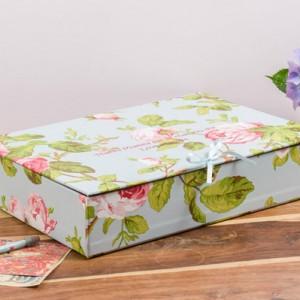Box File (A4) - Vintage Rose