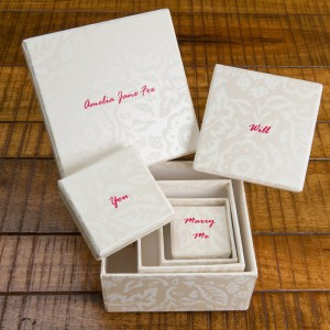 Gift Box Set - Floral Damask Pearl