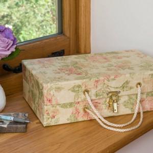 Handbag Box - Antique Gold