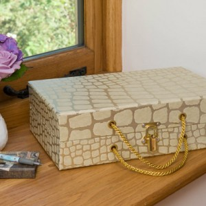 Handbag Box - Babylon Gold