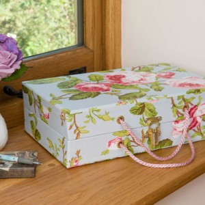 Handbag Box - Vintage Rose