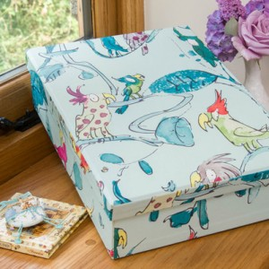 Keepsake Box - Cockatoo Aqua