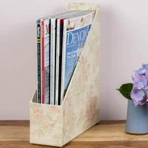 Magazine Holder - Antique Pink