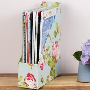 Magazine Holder - Vintage Rose