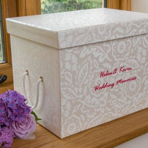 Memento Box - Floral Damask Pearl