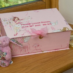 Treasure Box Small (A5) - Flower Fairies Pink