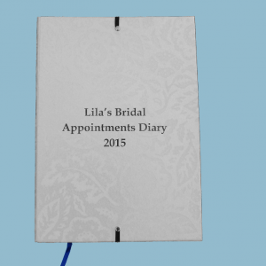 Appointments Diary Cover - Bride's Desk Set