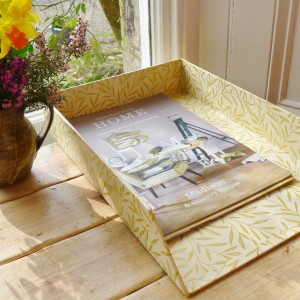 In Tray (A4) - Lily Leaf Gold