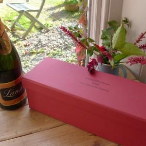 Champagne Wine Box - Plain Red