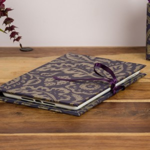 iPad Mini Cover - Floral Damask Purple and Gold