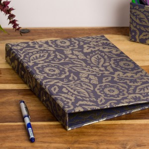 Ring Binder - Floral Damask Purple and Gold