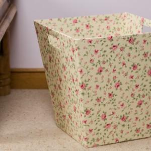 Waste Paper Bin - Rosebud